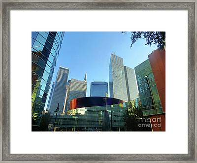 Dallasarchitecture 1 Framed Print by Tina M Wenger