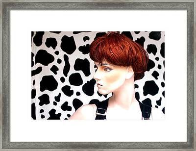 Dally Makes Her Point Framed Print by Jez C Self