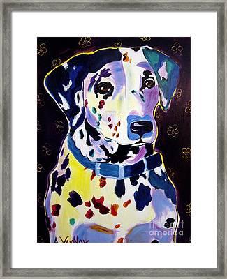 Dalmatian - Dottie Framed Print by Alicia VanNoy Call