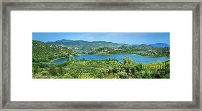 Dalmatian Coast Panorama, Dalmatia, Croatia Framed Print