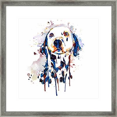 Dalmatian Head Framed Print by Marian Voicu