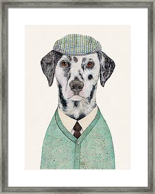 Dalmatian Mint Framed Print by Animal Crew
