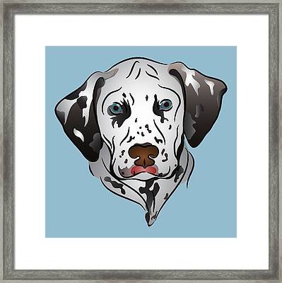Dalmatian Portrait Framed Print by MM Anderson