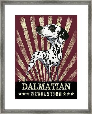 Dalmatian Revolution Framed Print