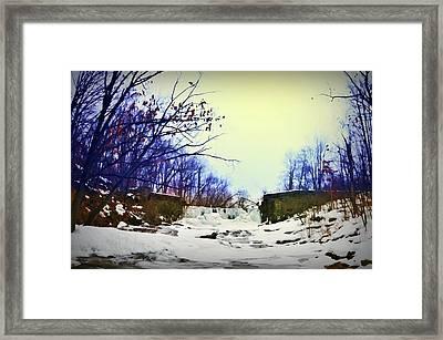 Dam Cold Framed Print