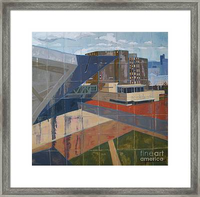 Framed Print featuring the painting Dam Museum by Erin Fickert-Rowland