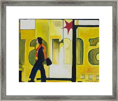 Framed Print featuring the painting Dam Shopper by Patricia Arroyo
