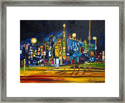 Framed Print featuring the painting Dam Square by Patricia Arroyo