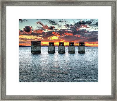 Dam Sunset Framed Print
