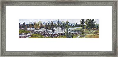 Dam Tetons Framed Print by Patricia A Griffin