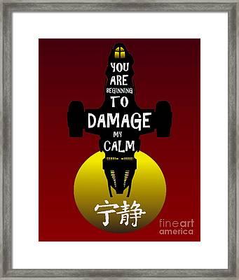 Damage Framed Print by Justin Moore