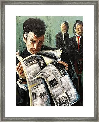 Damage Report Framed Print by Helen Syron