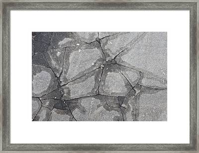 Damaged Concrete Framed Print by Tom Gowanlock