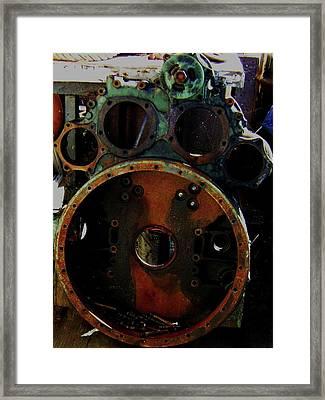 Framed Print featuring the photograph Damaged by Cyryn Fyrcyd
