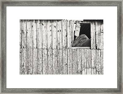 Damaged Hut Framed Print