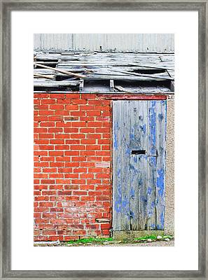 Damaged Roof Framed Print