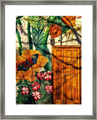 Damanhur Door Framed Print