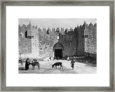 Damascus Gate Jerusalem Framed Print by Munir Alawi