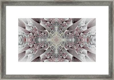 Damask Framed Print by Lea Wiggins