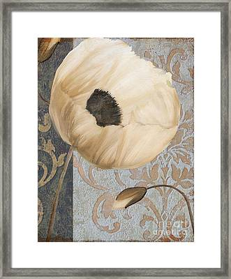 Damask Poppy Framed Print
