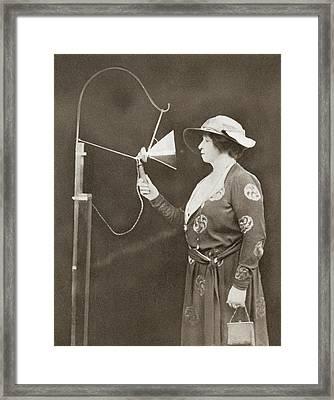 Dame Nellie Melba, 1861 Framed Print by Vintage Design Pics