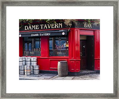 Dame Tavern Framed Print by Rae Tucker