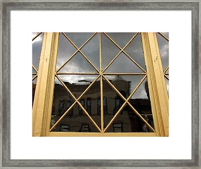 Damen Street Reflection Framed Print