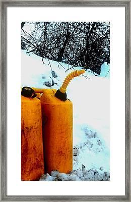 Framed Print featuring the photograph Damn Can by Cyryn Fyrcyd