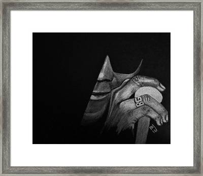 Damn Right I've Got The Blues Framed Print by Nick Young
