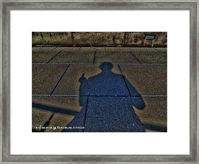 Damn Shadow Figure Framed Print