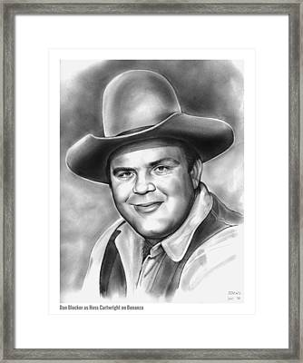 Dan Blocker Framed Print by Greg Joens