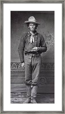 Dan Dedrick - Billy The Kid's Best Friend  C. 1877 Framed Print