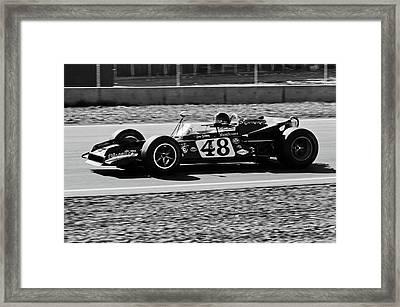 Dan Gurney For The Win Framed Print