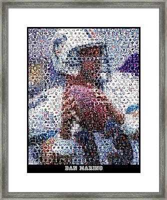Dan Marino Mosaic Framed Print by Paul Van Scott