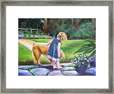 Dana And Friend Framed Print