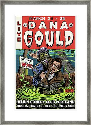 Dana Gould At The Helium Comedy Club Framed Print
