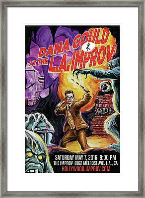 Dana Gould At The L.a. Improv Framed Print