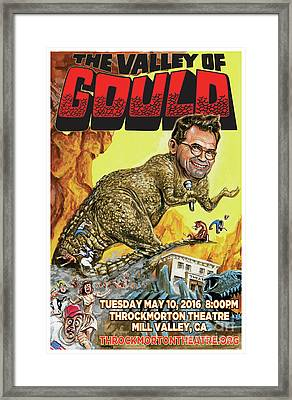 Dana Gould At The Throckmorton Theatre Framed Print