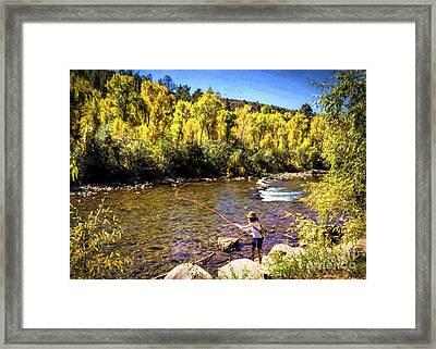 Dana Jean And The Dolores River Framed Print by Janice Rae Pariza