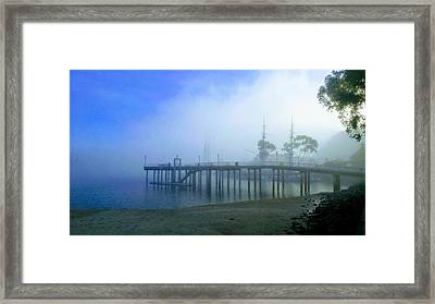 Dana Point Harbor When The Fog Rolls In Framed Print