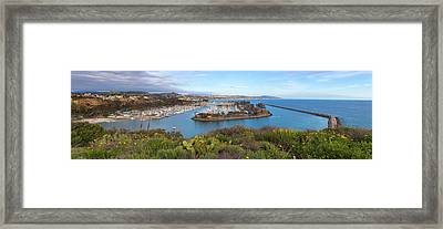Framed Print featuring the photograph Dana Point Panoramic by Cliff Wassmann