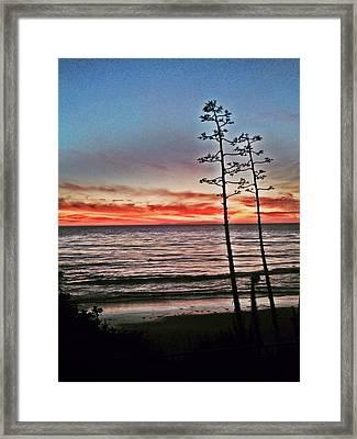 Dana Point Sunset Framed Print