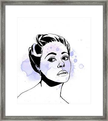 Dana Wynter Framed Print by Thelma Kerry