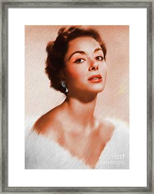 Dana Wynter, Vintage Actress Framed Print