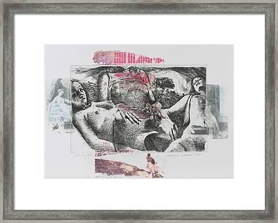 Danae-zabriskie Point-3 Nudi E Tre Alberi Framed Print