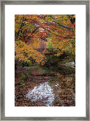 Danbury Bridge In Fall Framed Print