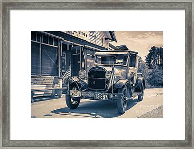 Danbury Country Store Ford Pickup Framed Print by Edward Fielding