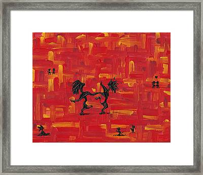 Dance Art Creation 3d9 Framed Print