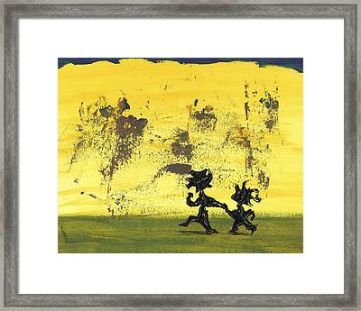 Dance Art Dancing Couple 147 Framed Print