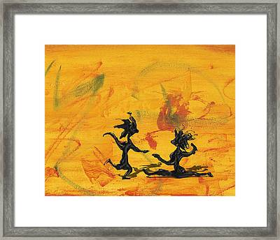 Dance Art Dancing Couple 238 Framed Print